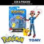 Pokemon Ash & Pikachu Con Pokedex & Pokeball Tomy