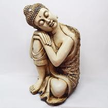 Buda Resina Retosando Grande - Indonesia - Oriental - Hindú