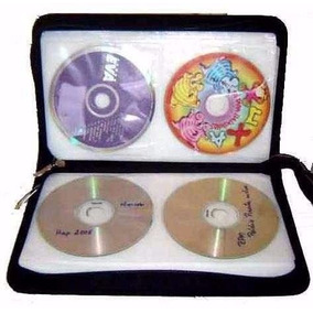 Case Porta Cd Dvd Blu-ray Maleta 80 Mídias Jiadai® Proteção.