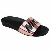 Sandália Chinelo Feminino Nike Slide Glow Metalizado