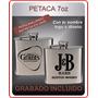 Petaca 7oz Acero Whisky Grabado Personalizado