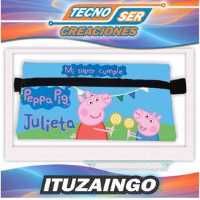 Cartucheras Personalizadas Peppa Pig Ambas Caras Souvenir