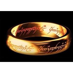 (par) Aliança Senhor Dos Anéis - Tungstênio Folheado A Ouro