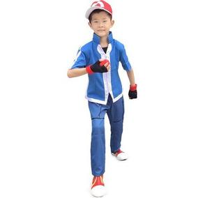 Disfraz Traje De Cosplay Pokemon Ketchum Ash Xy De Miccostu e60f0fae5ecc