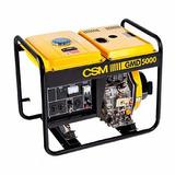 Gerador De Energia Portátil A Diesel Monofásico 6hp 4,5kva