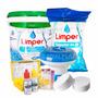 Kit Para Piscina Inflável Tratamento Limpeza Cloro Barrilha