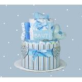Torta Pañales Babyshower Nacimiento Bebé Decoración