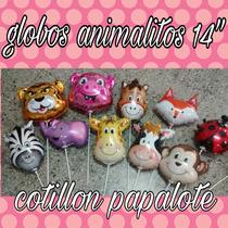 10 Globos Metalizados Animales Granja Selva Vaca Caballo Ceb