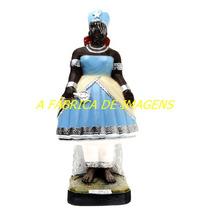 Escultura Orixa Africano Iemanja Linda Imagem 40cm Fabrica