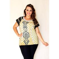 Blusa Plus Size Moda Grande Confortavel Gordinha