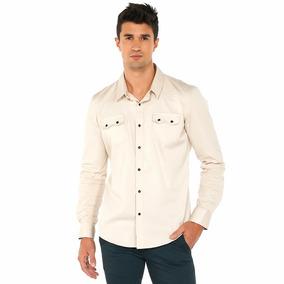 Camisa Oggi Ml X1541302 Arena Hombre