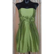 Lilasori Vestido De Coctel Color Olivo Talla 3 Importado