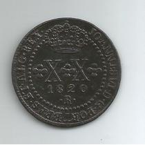 Moeda De Cobre Do Brasil. Xx Réis. Ano De 1820 R.soberba.