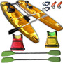 2 Kayaks Rocker Twin Kit Catamaran C6 Pileta De Prueba Local