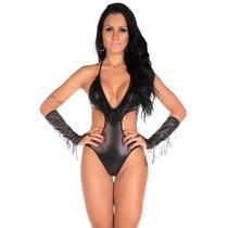 Fantasia Feminina Erótica Vaqueira Lingerie Body Sensual