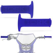 Manopla Punho Titan Crf Bros Tornado Xre 300 Moto Tork Azul