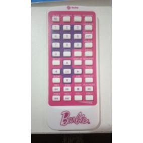 Controle Remoto Tectoy Dvd Portátil Barbie + Adesivos