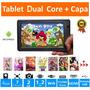 Tablet Android Dual Core 7 Criança Wifi + Capa Infantil + Pe