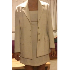 Traje / Vestido Y Saco / Diseño Alta Costura / Civil