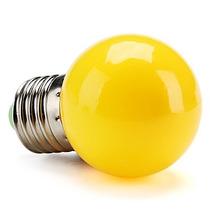 Lâmpada Bolinha Led Colorida 1w 127v E27 Amarela