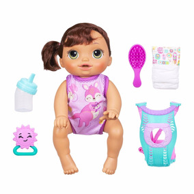 Boneca Baby Alive Vamos Passear Morena Hasbro Fala Engatinha