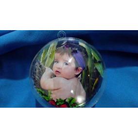 5 Bola De Natal Acrílica 6cm Personalizada