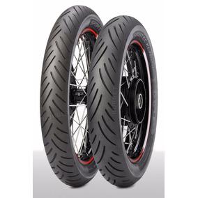 02 Pneus 18+19 P/ Motos Clássicas 4.00-18 + 3.25-19 Metzeler