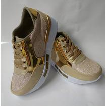 Zapatos De Moda En Colombia Deportivo Dorado Envío Gratis