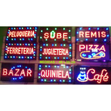 Cartel Led Luminoso Abierto Kiosco Bar Panchos - Envìos