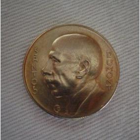 Moeda Prata Brasil Santos Dumont 1938