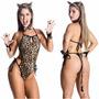 Fantasia Tigre Gata Onça Tigresa Leoparda Tigresa