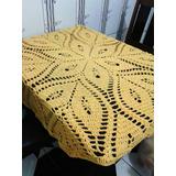 Toalha De Mesa Artesanal De Crochê Flores 1,45m Várias Cores
