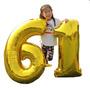 Balão Metalizado Dourado Número Gigante 100 Cm C /32 Unidade