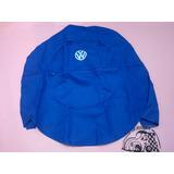 Funda Cubre Llanta De Refaccion Vocho Azul Logo Vw (md)