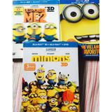 Mi Villano Favorito 1,2 Y Minions En Bluray + Bluray 3d +dvd