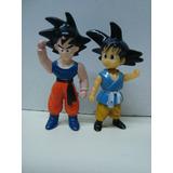 Lote 2 Figuras Muñecos Dragon Ball Z Gt Plastico Duro Goku