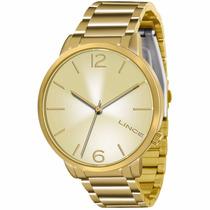 Relógio Lince Feminino Dourado Lrgj043l C2kx - Original