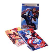 Bolsa Dulcero Decorada Capitán América Civil War Iron Man