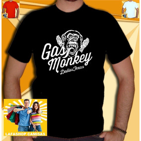 Camiseta Gasmonkey Camisa Garage Camisa Louco Carro Vermelh0