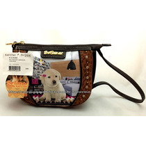 Bolsa Pequena Cachorro Labrador Chevron Original Rafitthy