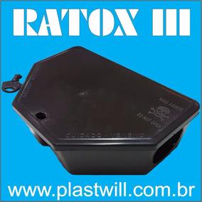 Porta Isca P/ Ratos Com Iscas Parafinado Kit Com 6 Armadilha