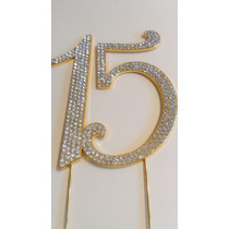 Cake Topper Quinceaños, Adorno Pastel Metal Con Cristales