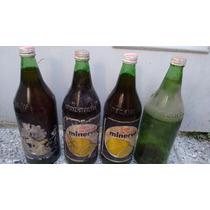 Lote De Botellas Antiguas De Limon Minerva