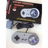 Kit Super Nintendo 2 Controles/1 Cabo Av,1 Fonte Super!!!