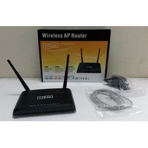 Router Wi-fi Wireless N 300mbps Doble Antena Con Repetidor