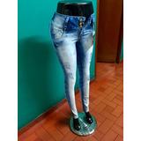 Jeans Para Dama De Moda, Pretina Alta, Levanta Cola,t(6-16).