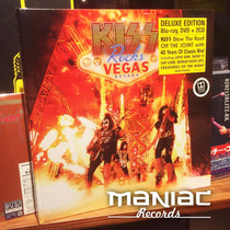 Kiss Rocks Vegas Edicion Deluxe 2 Cd Dvd Blu-ray Libro