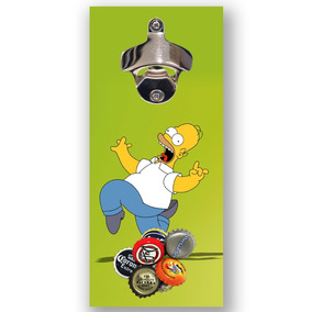 Abridor Garrafa Imã Engraçado Homer Simpson Área Churrasco