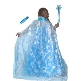 Disfraz Niña Frozen Gloss Inspirado Elsa Copo De Nieve Del