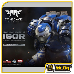 Comicave Iron Man 3 Mark 38 Igor 1/12 Diecast Metal Com Led